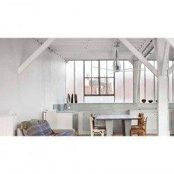Ventilador de techo, de diseño, CC, 130 cm ETERFAN 33381 vidrio transparente y control remoto