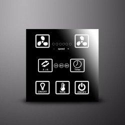 SERGENT- Ventilador de techo DC 116 cm. Color grafito. Potente. Silencioso. Con luz. Con mando. Reversible. Ideal dormitorios.