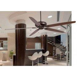 Ventilador de techo clásico, muy grande 178 cm. óxidado, Faro Niso 33363