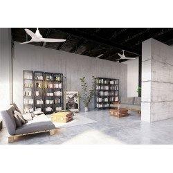 Ventilador de techo, Leveche, 122cm, diseño, blanco, DC, con luz, destratificación, silencioso, Lba Home.