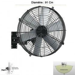Ventilador de pared de alta velocidad/industrial, Pole Storm, 91cm, 750W de potencia, ideal para un área de 80m2, Lba Home