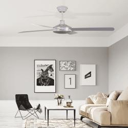 Ventilador de techo, Astro blanc, 132cm, blanco/roble, moderno, Lba Home.
