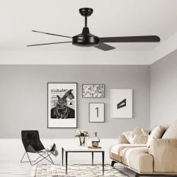Ventilador de techo, Astro marron, 132cm, marrón/nogal, moderno, Lba Home