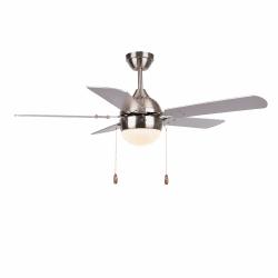 Ventilador de techo, Ponoma, 107cm, níquel/plata/haya , con luz, moderno, Lba Home