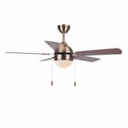 Ventilador de techo, Ponoma, 106cm, cobre/nuez/cerezo, con luz, moderno, Lba Home