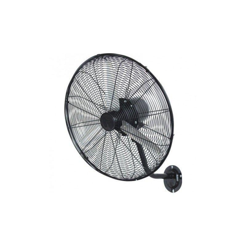 Ventilador de pared, Turbina de pared, 70cm, alto rendimiento, negro y acero galvanizado, Lba Home