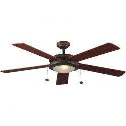 Ventilador de techo, moderno, marrón, con luz 132 cm, control con cadenas, FARO MANILA 33192