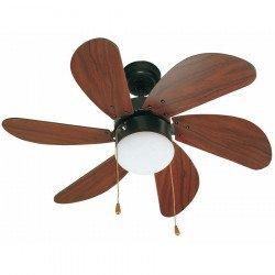 Ventilador de techo, marrón mate, 81 cm. con lampada - FARO PALAO 33185