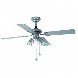 Ventilador de techo, gris, 107 cm. con lámpara integrada - FARO Jaca 33175