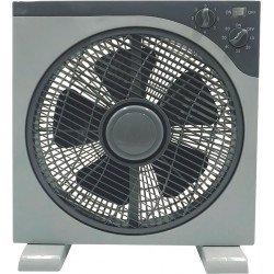 Ventilador de ventana tropical 40 Cm, gris 3 velocidades con rejilla de protección giratoria.