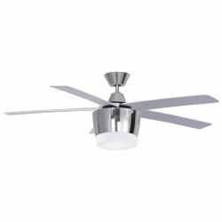 Moderno ventilador cromo de techo de 132 cm,placa de leds ultra potente, mando a distancia