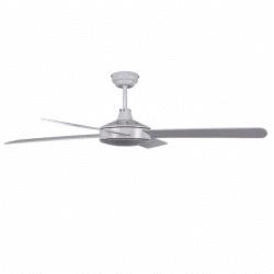 Moderno ventilador de techo blanco y gris claro de 132 cm, control remoto