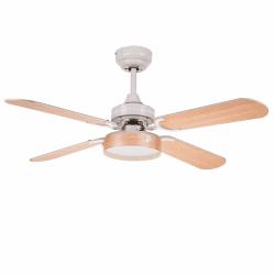 Moderno ventilador de techo blanco de 107cm, placa de 16 w de leds, mando a distancia