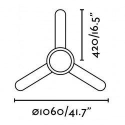 Ventilador de techo, 106 cm. de color marrón oscuro, control remoto, con lámpara FARO FEROE 33602