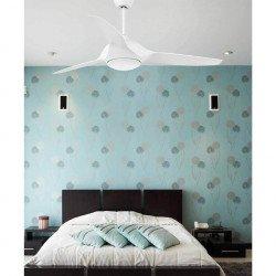 Ventilador de techo moderno, 132 cm. blanco, con lámpara de LED , control remoto IR, FARO TIMOR 33408