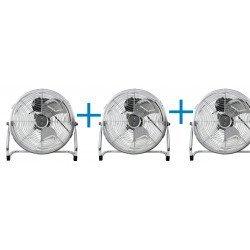 3 AUSTRO WIND- Ventilador industriales de aire 35 cm, 55W. Potente, con rotación 180º.
