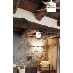 Ventilador de techo, Bahia, 106,6cm, con luz, blanco/haya, Lba Home