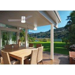 Ventilador de techo, Area, 132cm, para uso exterior e interior, con luz LED, moderno, plata, Lba Home