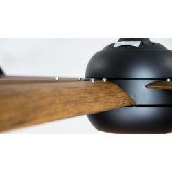 Ventilador de techo/colador, Big Cool Eco WOOD, 236cm, negro/madera, con luz, DC, hiper silencioso, Klassfan.