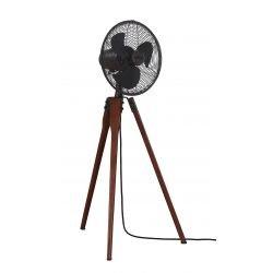 Arden de Fanimation es un ventilador design madera maciza de nogal , rejilla de bronce aceitado.