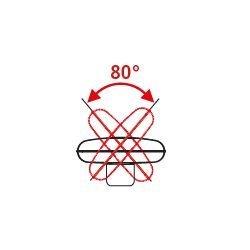 Ventilador de aire cromeado alto rendimiento 65 cm, 123 Vatios, altura 158 cm ultra potente.