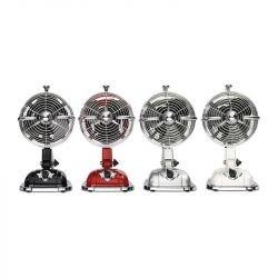 Ventilador de mesa, Retrojet, estilo retro, rojo rubí, con mecanismo oscilante, Casafan.