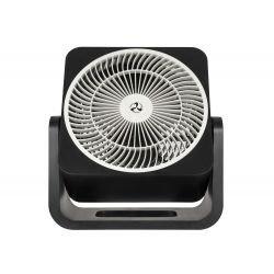 Ventilador de mesa, Airos circubox SW, 20cm, negro mate, con mecanismo oscilante, Casafan.