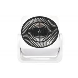 Ventilador de mesa, Airos circubox WE, 20cm, cuerpo blanco, rejilla negra, con mecanismo oscilante, Casafan.