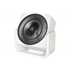 Casafan Airos,  mini ventilador de aire personal blanco y cromo, garantizado 3 anos.