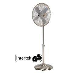 Ventilador con pie 100% cromo y aspas de 40 cm, altura maxima 139 cm, oscilacion y muy estable.