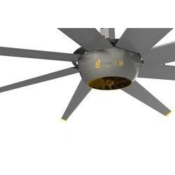 DC RAPTOR HVLS RT-DC10. Ventilador industrial de diseño ultraeficiente. Bajo consumo, alto volumen de aire. 220m2.