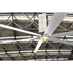 HVLS AC Stator OM-KQ-3E. Ventilador industrial 3,7 m. Diseño ultraeficiente. 630 m2.