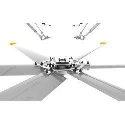 Ventilador de techo HVLS, StatorOM-KQ-7E 380V, industrial, 4,9 m, para superficies de hasta 850m2, super eficiente, Klassfan.