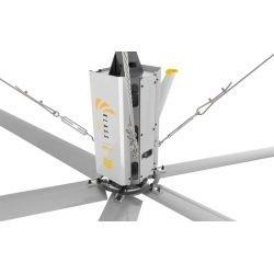 HVLS AC Stator OM-KQ-4E 380V. Ventilador industrial 4,9 m. Diseño ultraeficiente. 850 m2