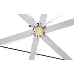 Ventilador de techo HVLS, StatorOM-KQ-6E 380V, industrial, 6,1m, para superficies de hasta 1230m2, super eficiente, Klassfan.