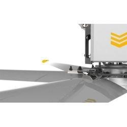 Ventilador de techo HVLS, StatorOM-KQ-7E 380V, industrial, 7,3m, para superficies de hasta 1800m2, super eficiente, Klassfan.