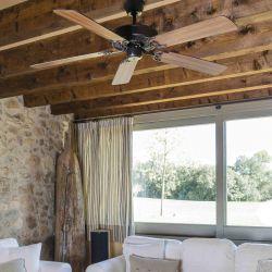 ALHOA Chocolate y TEK / cereza clásico ventilador de techo para habitaciones medianas de 17 a 35 m²