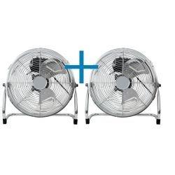 2x Ventiladores de suelo industriales , Austro 45 g , 50cm, 100W max, cromo, alto rendimiento y velocidad, Lba Home.