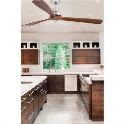 Ventilador de techo, diseño, 168 Cm. con aspas de nogal sólido, cromo, Faro, Lantau G-33464