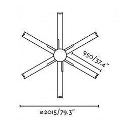Ventilador de techo, marrón, de gran tamaño moderno DC 215 cm FARO ANDROS 33462