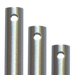Tija Modern fan, aluminio cepillado, BA, 30,5 Cm
