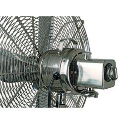 Ventilador, RETRO-AIRSTYLE BN-NB, soporte trípode en nogal macizo, motor, rejilla cromada cepillada, Casafan