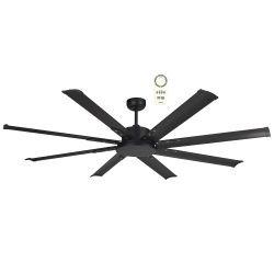 Ventilador de techo, DC, 165 cm, Mini NORTH STAR, para uso exterior, Negro, LBA