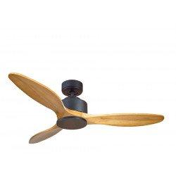 Ventilador de techo, Módulo, 132 cm, DC, madera clara/gris basalto, destratificador, +termostato y wifi, Klasssfan.