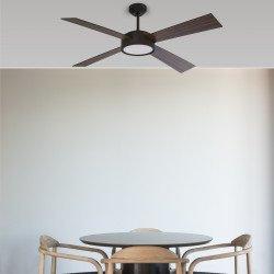 Ventilador de techo, HYDRA LED, DC, 132cm, con luz LED, IP20, Faro.