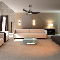 Ventilador de techo, Yakatan, 142cm, DC, moderno, con luz y mando a distancia, Lba Home.