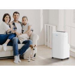 Acondicionador de aire portátil, Air Cooly 14000, blanco, capacidad de refrigeración 3500, clase A, Purline.