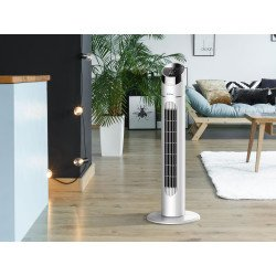Ventilador de torre digital, Venty 40, 40 W, elegante, +temporizador, panel LED, Purline.