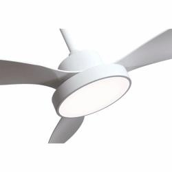 Ventilador de techo, White wind, 120cm, blanco, con luz, moderno, Lba Home.