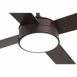 Ventilador de techo, Tube Brown, 132 cm, marrón/haya, con luz LED, mando a distancia, Lba Home.